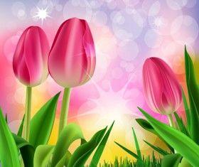 Wiosna kwiat piękne tła wektory 13