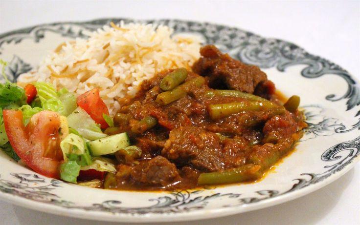 Lobie bi lahme- Libanesisk gryta med gröna bönor
