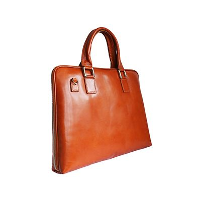 Ladies Tan Leather Briefcase Handbag - Rrp: £99.99, our price: £59.99