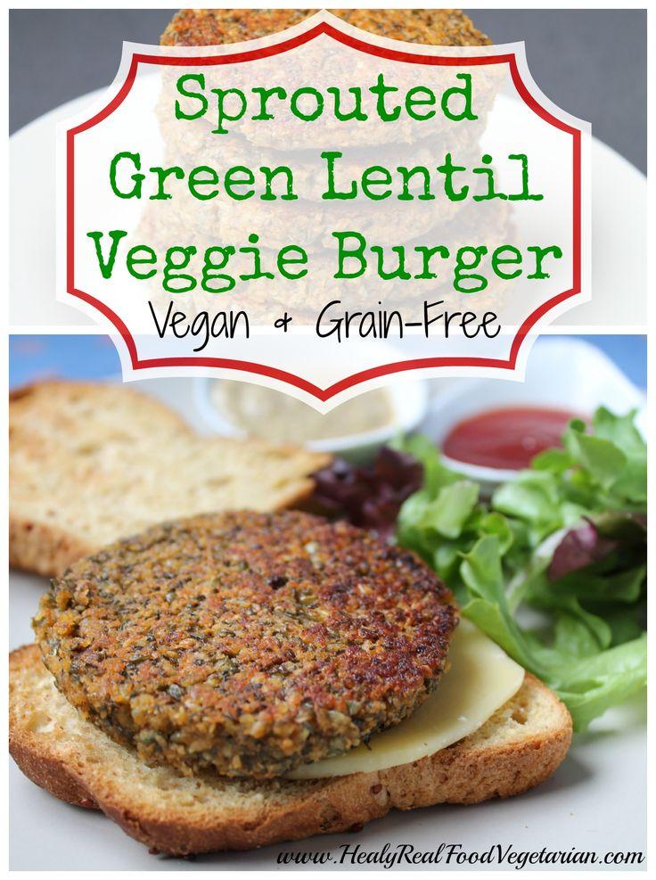 Green Lentil Burger (vegan, grain-free) @ Healy Real Food Vegetarian ...