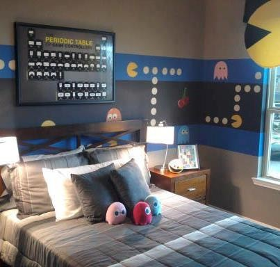 Pac Man Room For The Home Gamer Bedroom Video Game