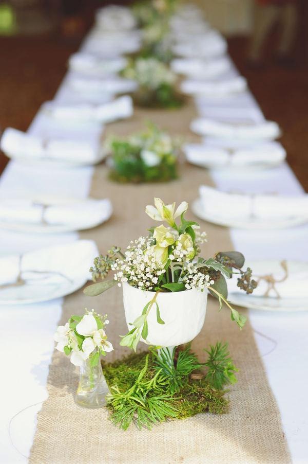 Burlap table runner 113 best Simple Wedding