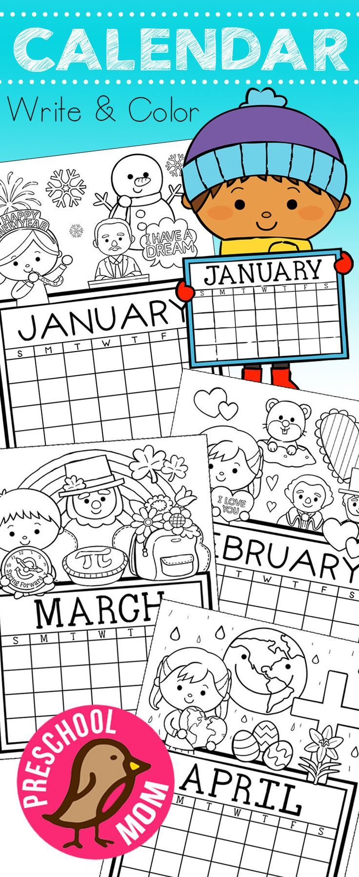Calendar Games For Kindergarten : How cute r these free month set of calendar for
