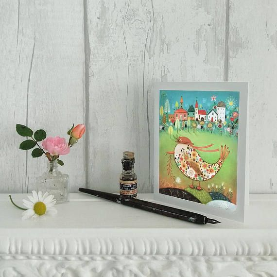 The Pretty Duckling  Cute and Whimsical Note Card