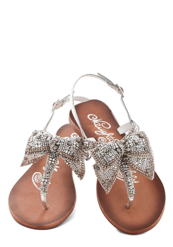 Twinkling Trimmings Sandal in Silver, #ModCloth Grad shoes @Allison j.d.m j.d.m Delzell  So you and freaking cute. $60.