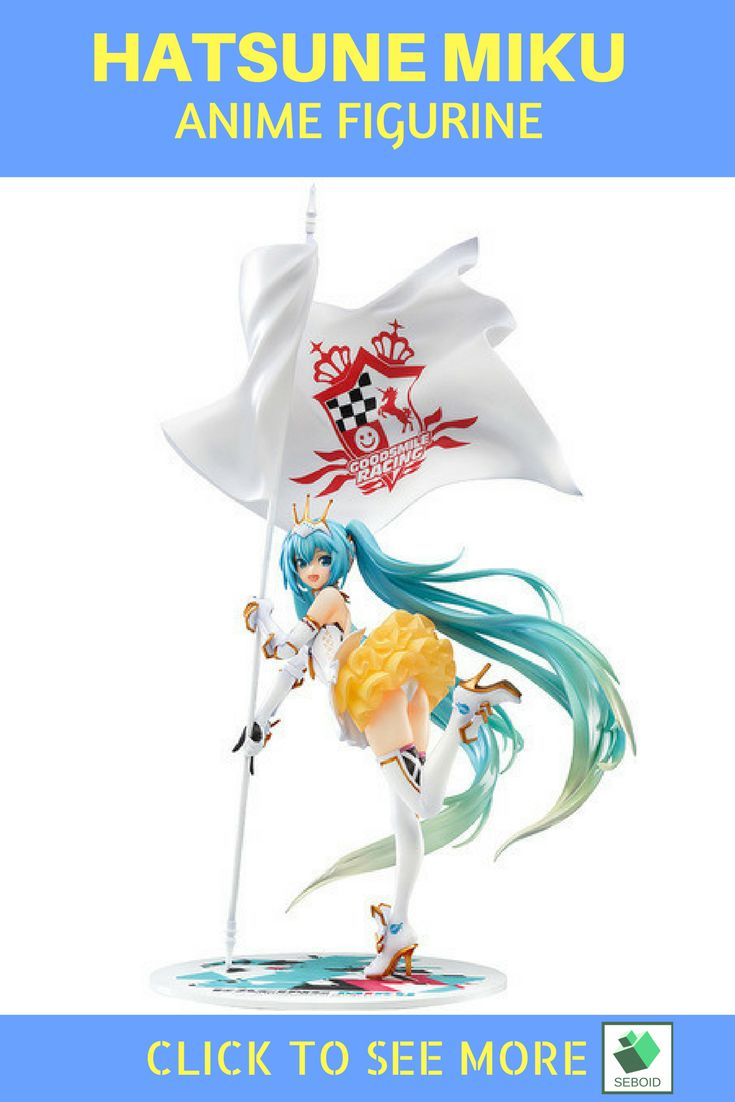 Hatsune Miku anime figurine |$40 This sexy hatsune miku held a concert on a racing competition. Join her concert by buying her on https://www.etsy.com/listing/532497197/hatsune-miku-racing-action-figure?ref=listings_manager_grid
