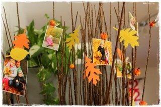 Ozdobte si větvičky fotkami a vyřezaným listí - Home Decor DIY
