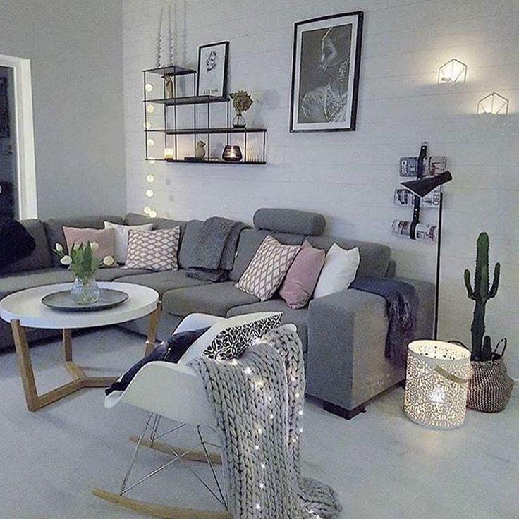 40 Erstaunliche skandinavische Wohnzimmer Design Ideen im ...