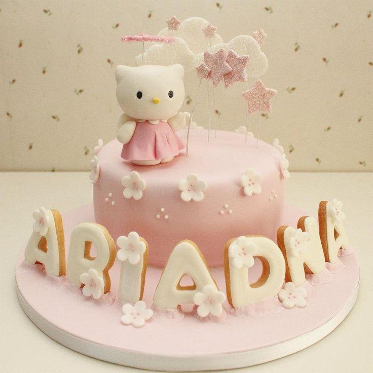 Pastel Hello Kitty ángel angelito