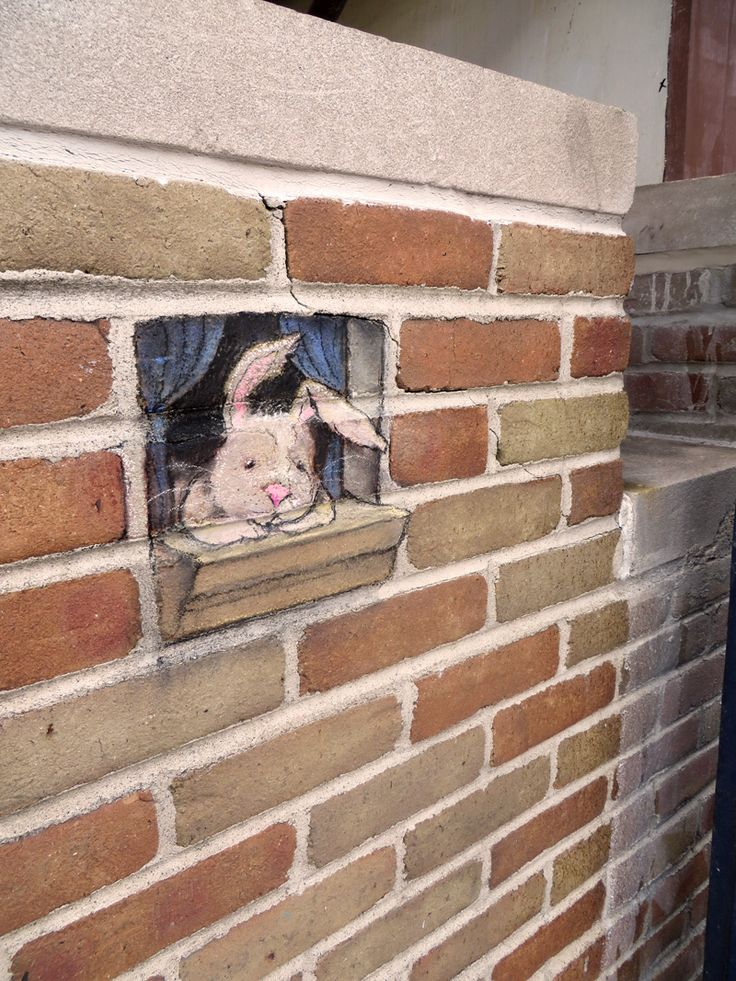 David Zinn Lights Up City Streets With Amazing Chalk Art Featuring Cute Animals and a Green Monster! http://restreet.altervista.org/le-divertenti-creature-di-david-zinn/