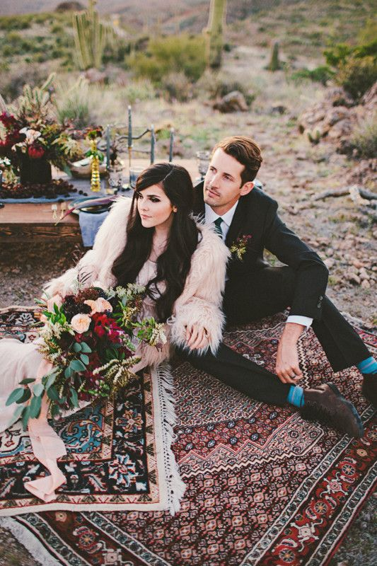 Bohemian Arizona desert wedding inspiration | Wedding & Party Ideas | 100 Layer Cake