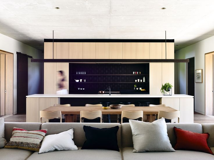 Rob Kennon Architects | In-situ House - LUV that over bench lighting!