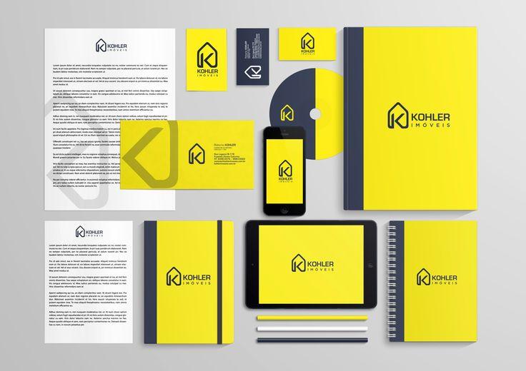 Aplicação em papelaria e materiais digitais