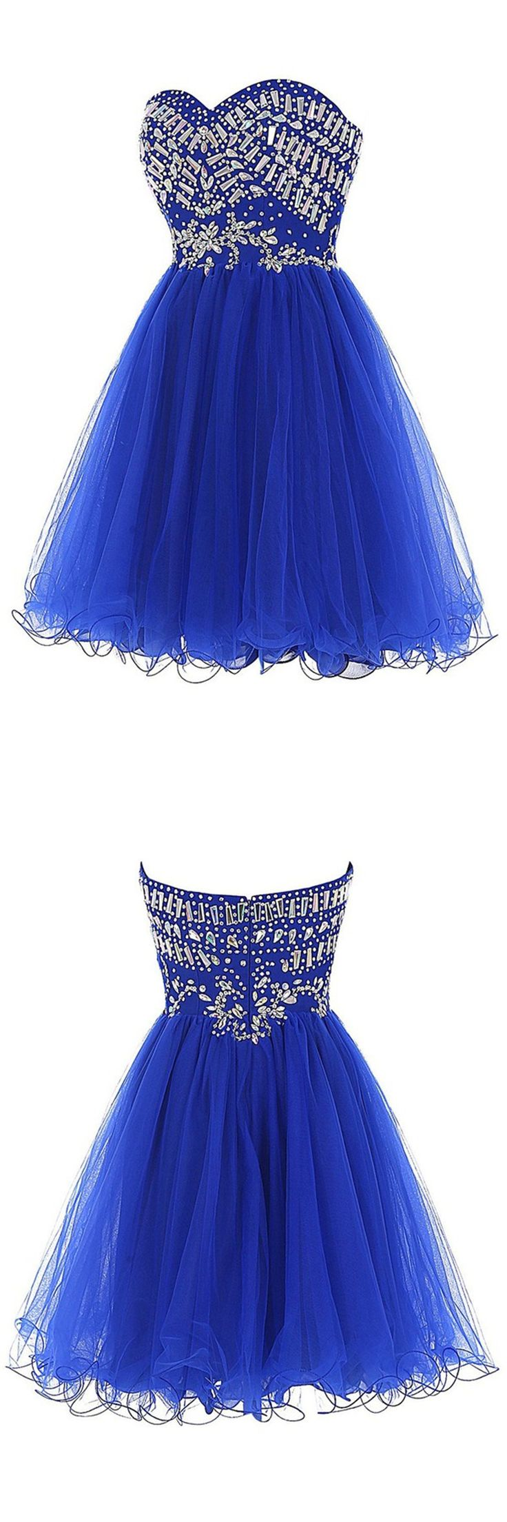 homecoming dress,royal blue homecoming dress,simple a-line homecoming…