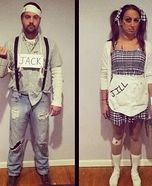 Coolest couples Halloween costumes - Jack and Jill Homemade Costume