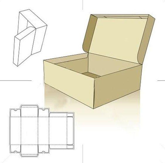 Круглая коробка из картона  мастер 22