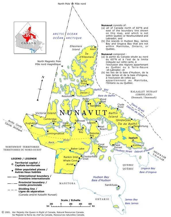 nunavut map cities