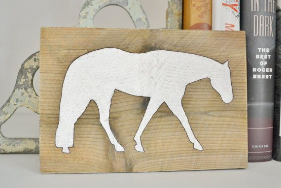 NEW Western Pleasure Horse Wooden Sign Horse by MyMidwestHome