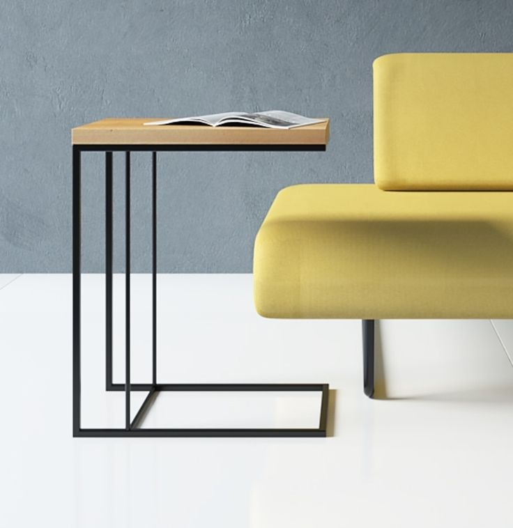 Minimalist Side Table That Will Look Good Both On The Sofa And The Bed. #