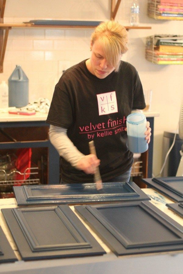 how to paint kitchen cabinets with velvet finishes rh pinterest ca