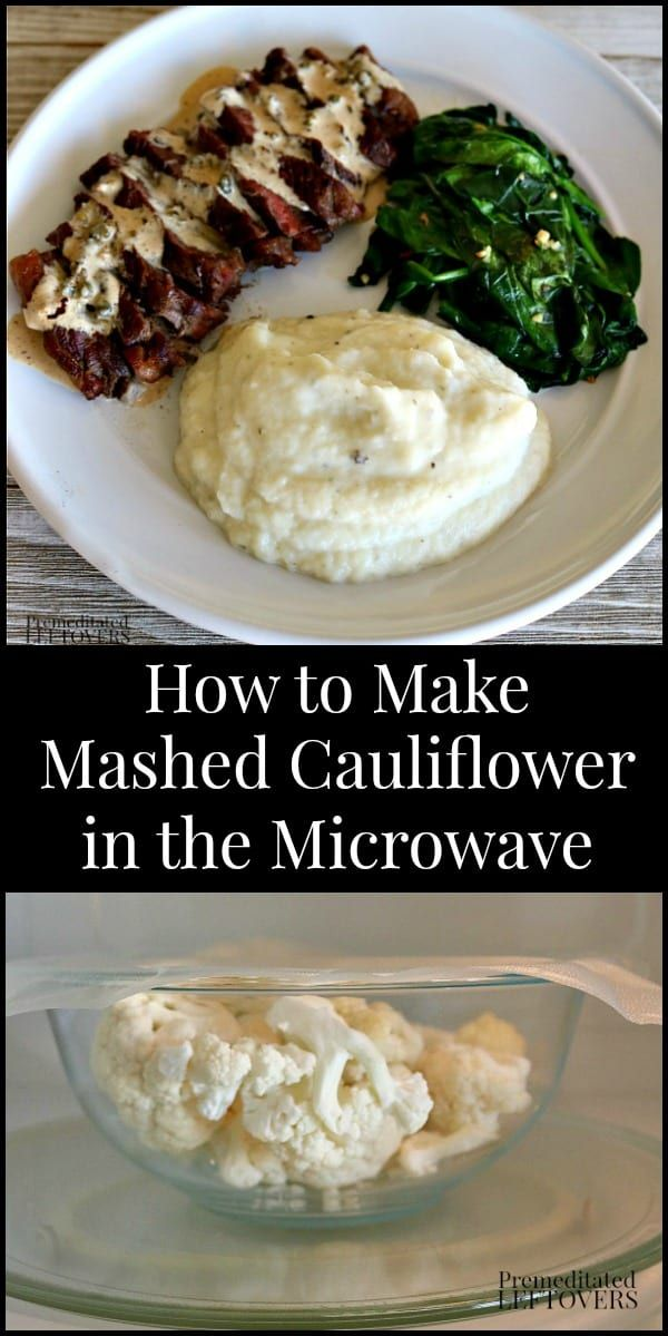 How To Make Mashed Cauliflower In The Microwave It Takes Only 7 Minutes And Uses 3 Ings This Is A Lowcarb Subsute For Traditional