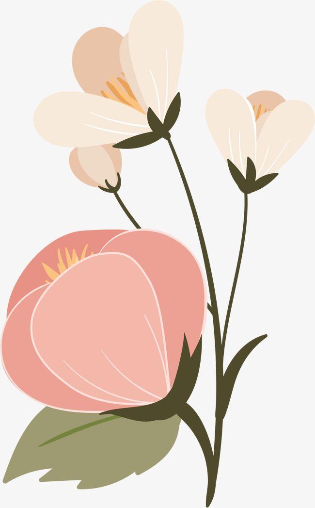 Pink Flowers Dibujos De Flores Flores De Color Rosa Flores Rosadas