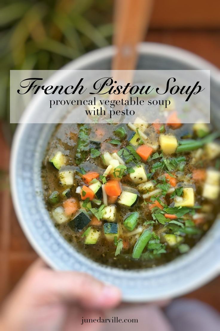 Pistou Soup, French Vegetable Soup with Pesto