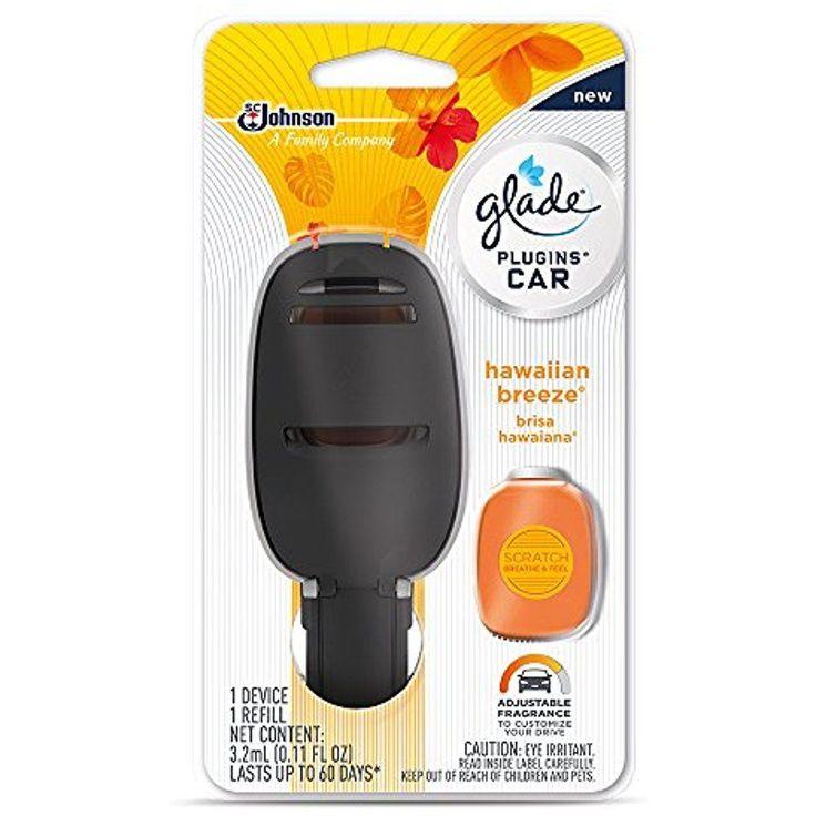 Glade Plugins Car Air Freshener Starter Kit Glowing Blue Light Hawaiian Breeze #Glade