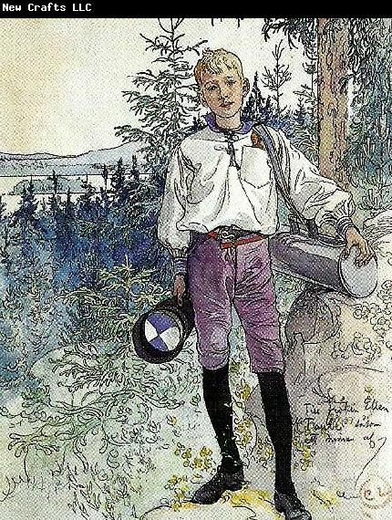 Carl Larsson lllustration till ansnittet till en gosse