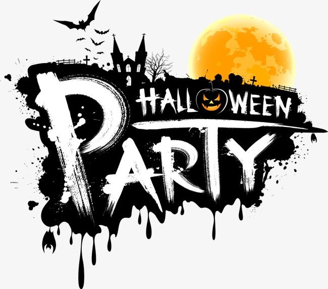 Vector Halloween Party Wordart Halloween Creative Holiday Happy Halloween Png Transparent Clipart Image And Psd File For Free Download Halloween Images Halloween Images Free Halloween Text
