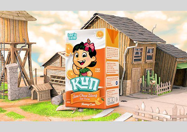 Love'in Farm KUN Milk on Behance