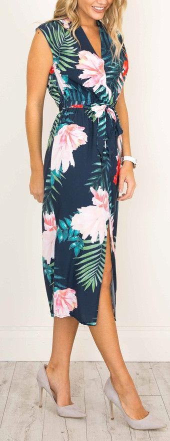 PINTEREST: @MUSKAZJAHAN - tropical floral dress