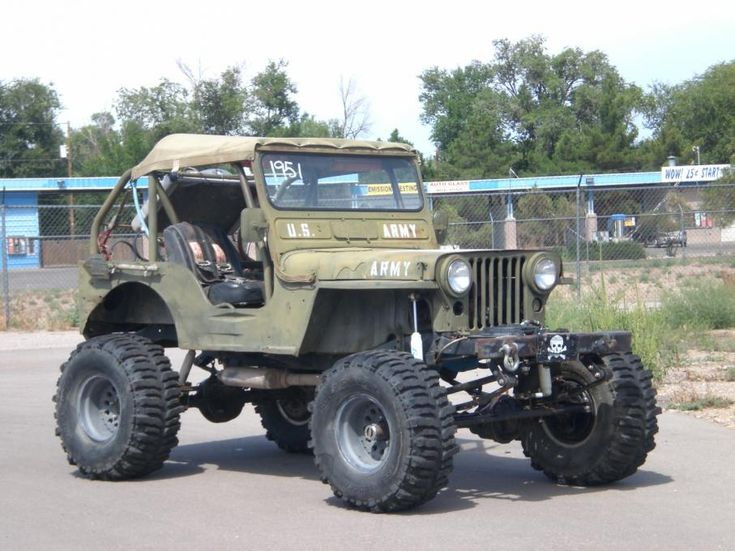 Lifted Jeep | 1951 Willy's Jeep M38 (CJ2) Rock Climber V-8 ...