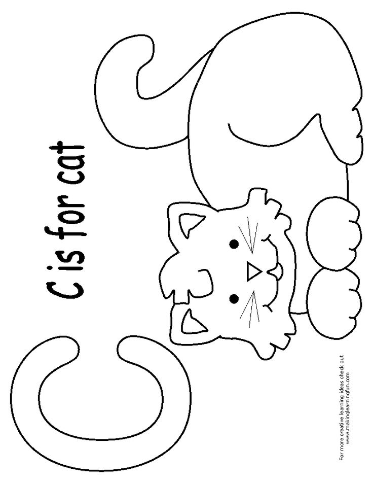 cat coloring pages for preschoolers - photo #16