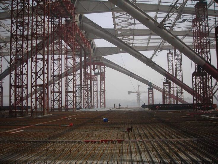 Qingdao North railway station - structure during construction - Arep / MaP3
