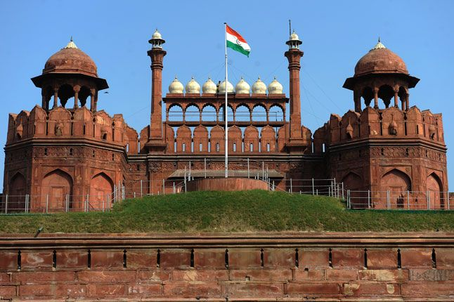 #TheRedFort of India which is made by king  shahjahan which is most famous place for every tourist world wide .