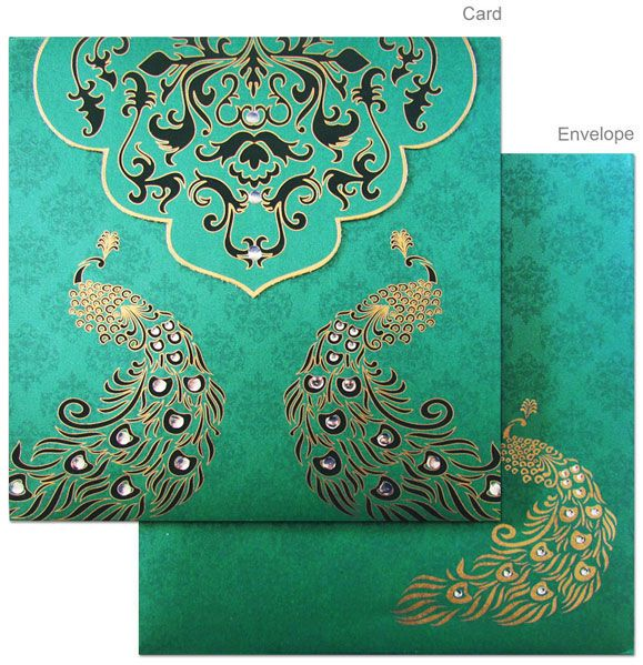Beautiful color and peacock design! This is my favorite I think! :)