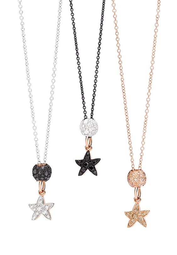 Wear the Dodo Starfish charms and become the brightest star. Discover the rose gold version with diamonds, rose gold and black diamonds and rose gold and brown diamonds.