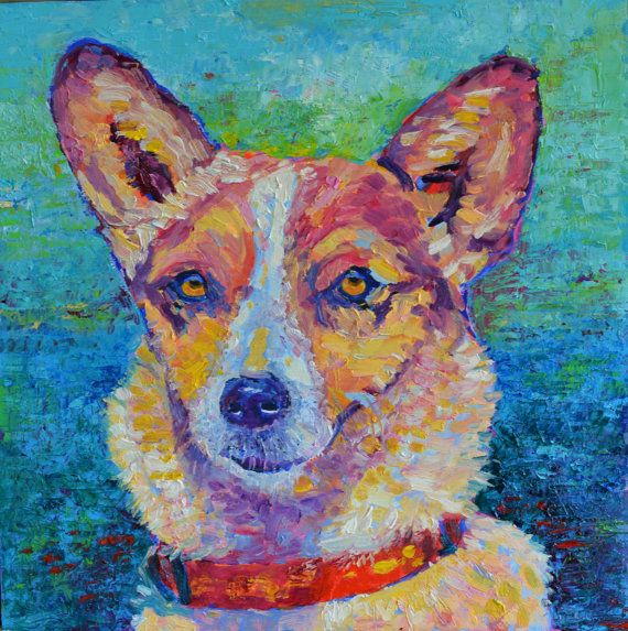 Dog painting by TanabeStudio impressionist Dog by TanabeStudio
