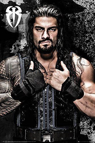 WWE Roman Reigns Wrestler Poster Print Wall Art Large Maxi