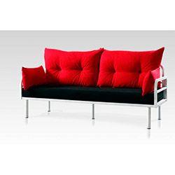 299 Hira Üçlü Kanepe - Kırmızı / Siyah