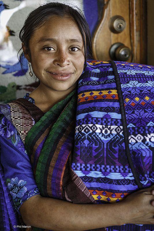 Fabric vendor - Panajachel, Guatemala
