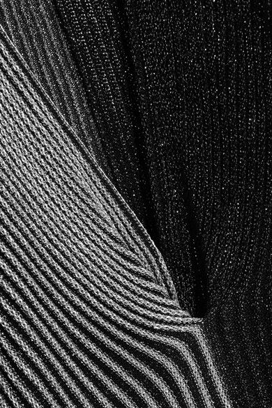 GABRIELLE'S AMAZING FANTASY CLOSET | Proenza Schouler's Divided Black and Silver Lurex Midi-Dress (Detail) You can see this Outfit and my Remarks on this board. - Gabrielle