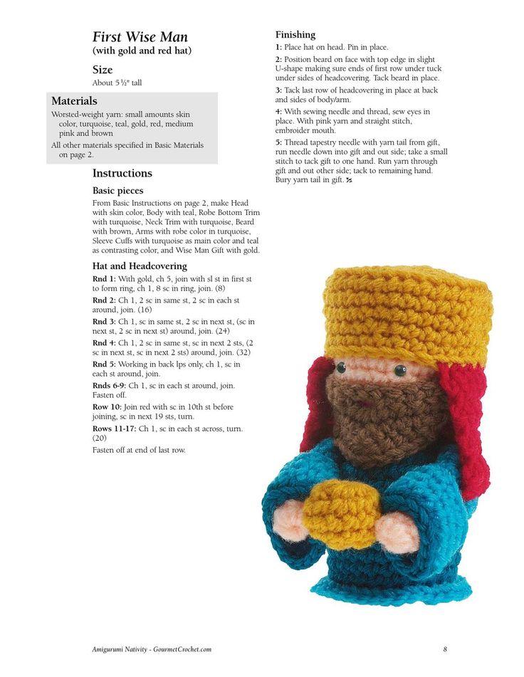 Amigurumi Nativity Free Pattern : nacimiento crochet Amigurumi, Crochet and Crochet christmas