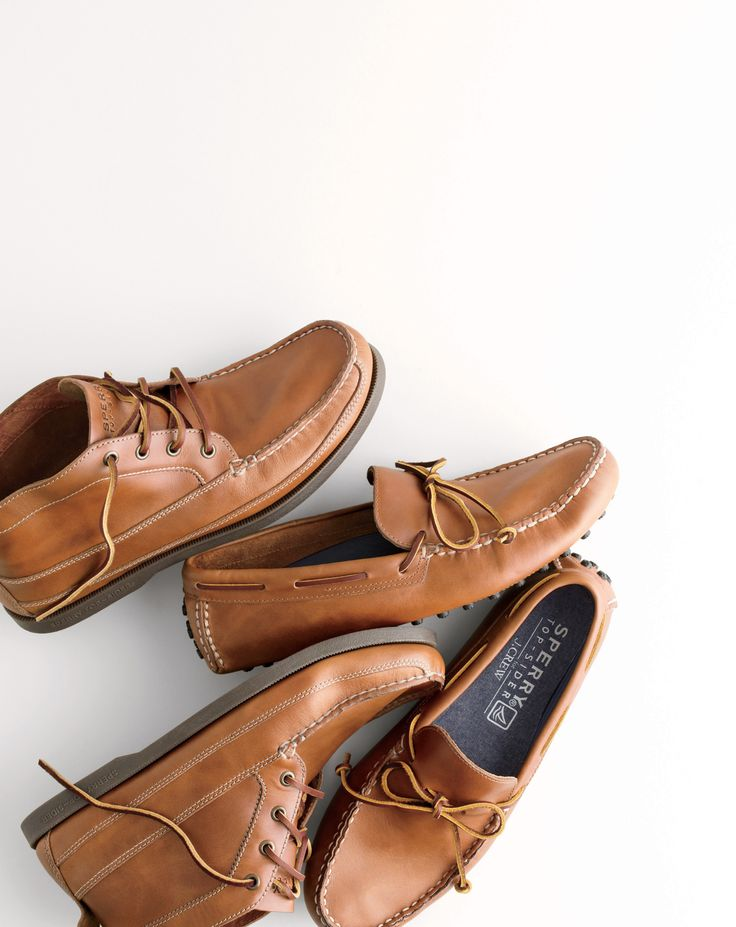 J.Crew men's Sperry® for J.Crew leather chukka boots and Sperry for J.Crew driving moccasins.