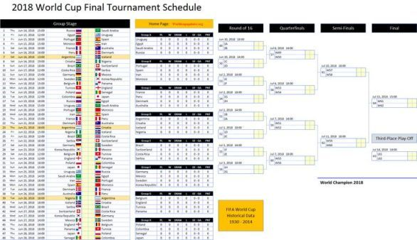 Fifa World Cup 2018 Schedule Fixtures Pdf Download Fifa Fifaworldcup Fifarussia Fifa2018 Fifaworldcuprussia Worldcup2018