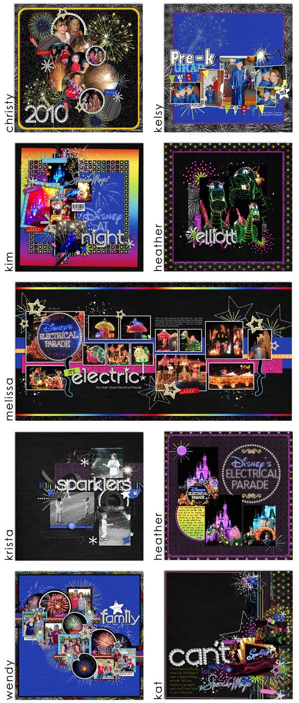 I don't have any Disney pics...yet!  But my mind is running with all kinds of ideas of how else I could use layouts like this.  I love these! :-)