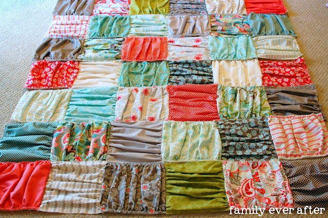 Ruffled Quilt - Pretty sure this would be way more work than I'm willing to put in, but it is still really cute.