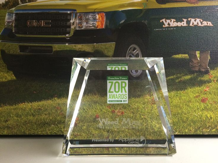 """Read more about Weed Man's most recent accolade: Franchise Times' """"Zor"""" Award! #lawncare #landscape #franchise #business #success #award #entrepreneur #opportunity"""