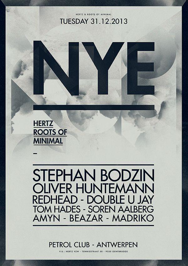 minimal new year poster